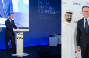 DMCC's Dubai Diamond Conference Concludes with Keynote from Former Prime Minister David Cameron, Inaguration of UAE's First Diamond Polishing Facility, and a Rare 163-Carat Gem on Display
