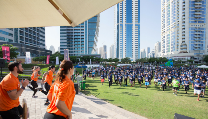JLT Run brings together over 550 competitors in collaboration with Dubai 30/30 Fitness Challenge
