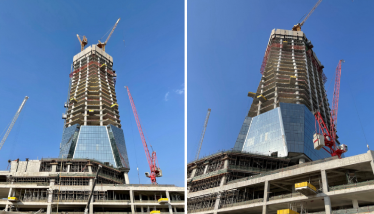DMCC's Uptown Tower Reaches 150m, Office Structures Completed